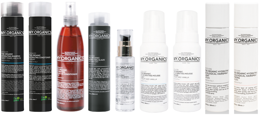 Hydrating Line: products for stressed hair damaged by chemical treatments and colourings - My.Organics