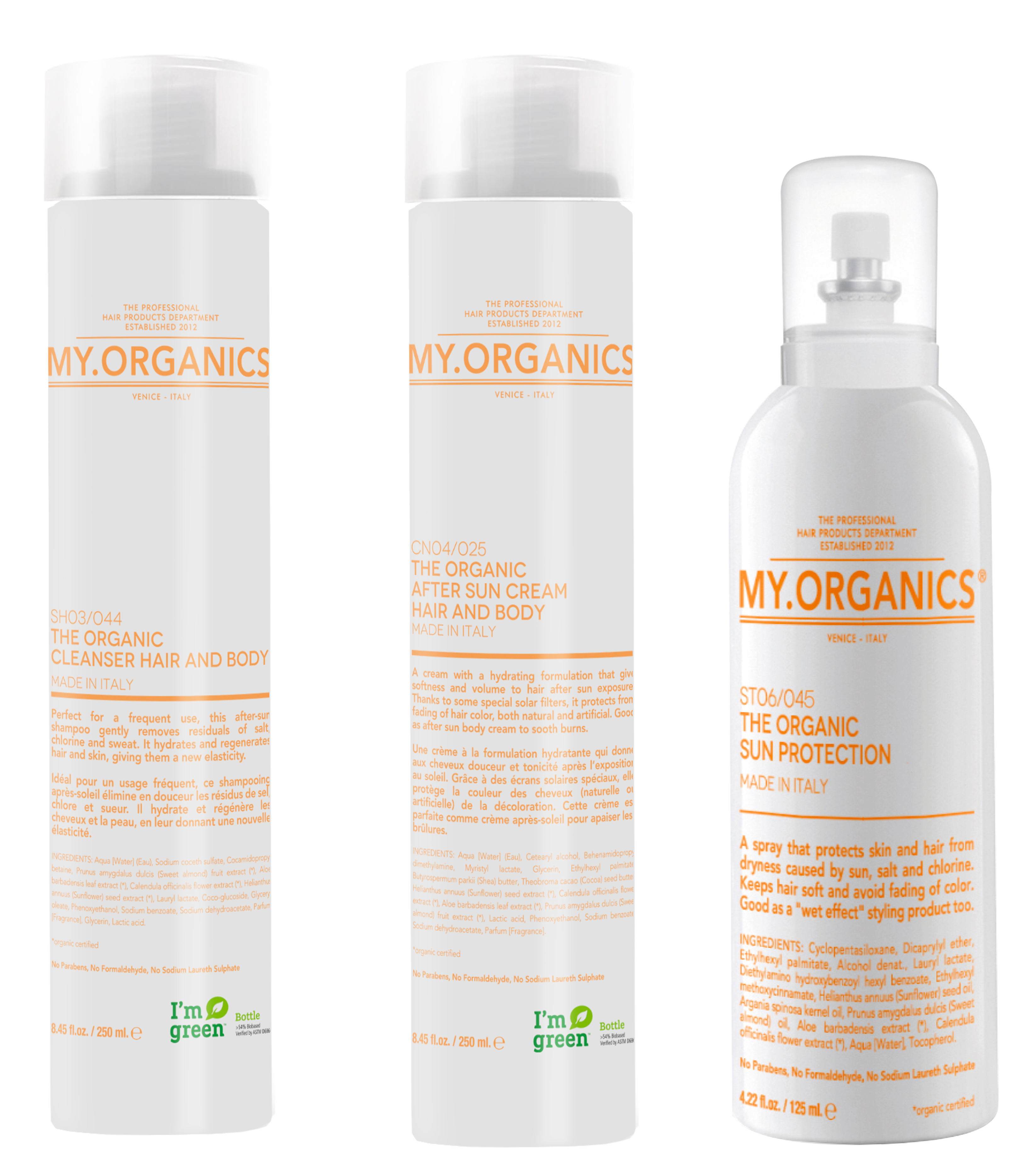 My.Tan Line: products for to take care of hair also during summer - My.Organics