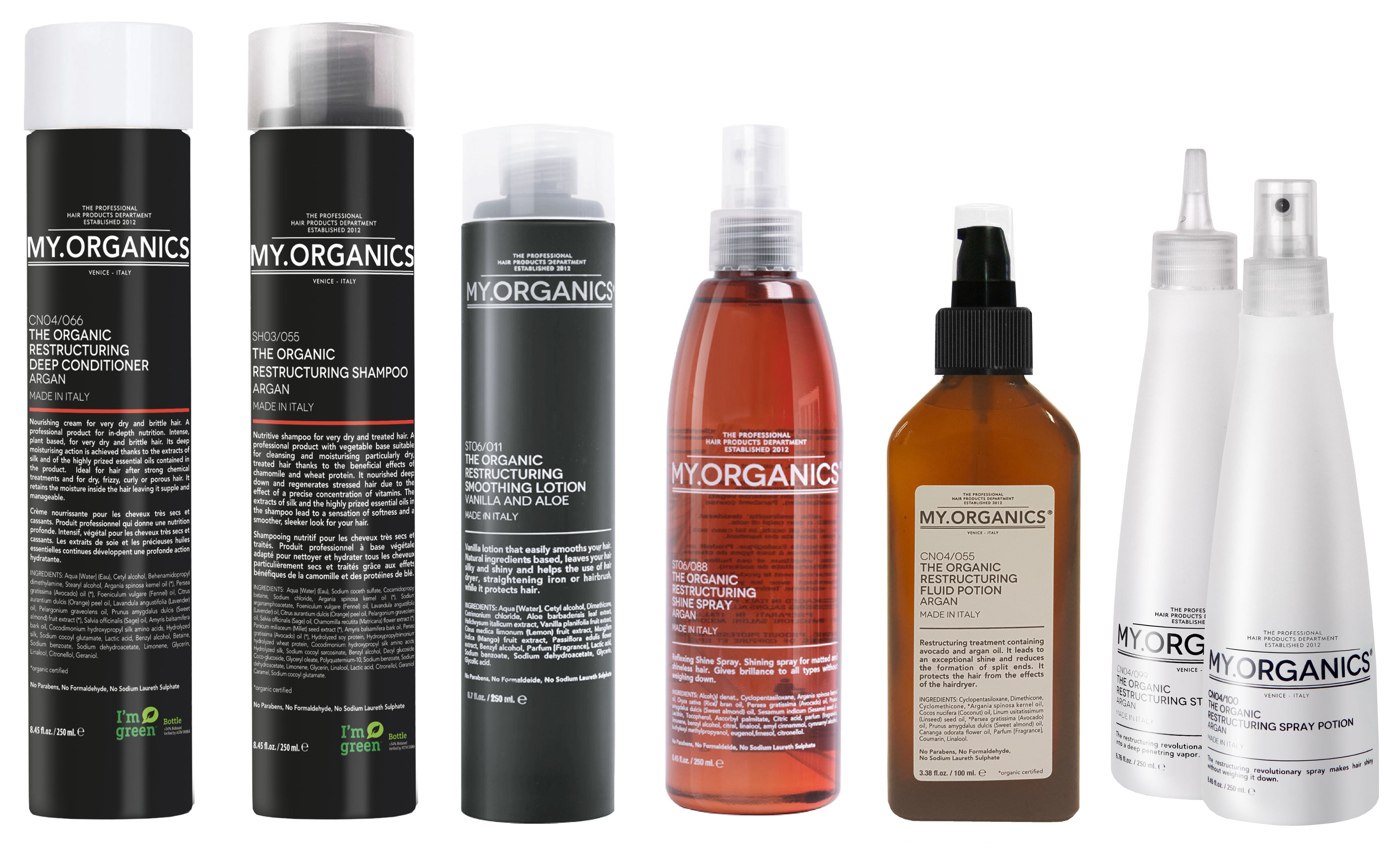 Restructuring Line: products for dry and treated hair - My.Organics