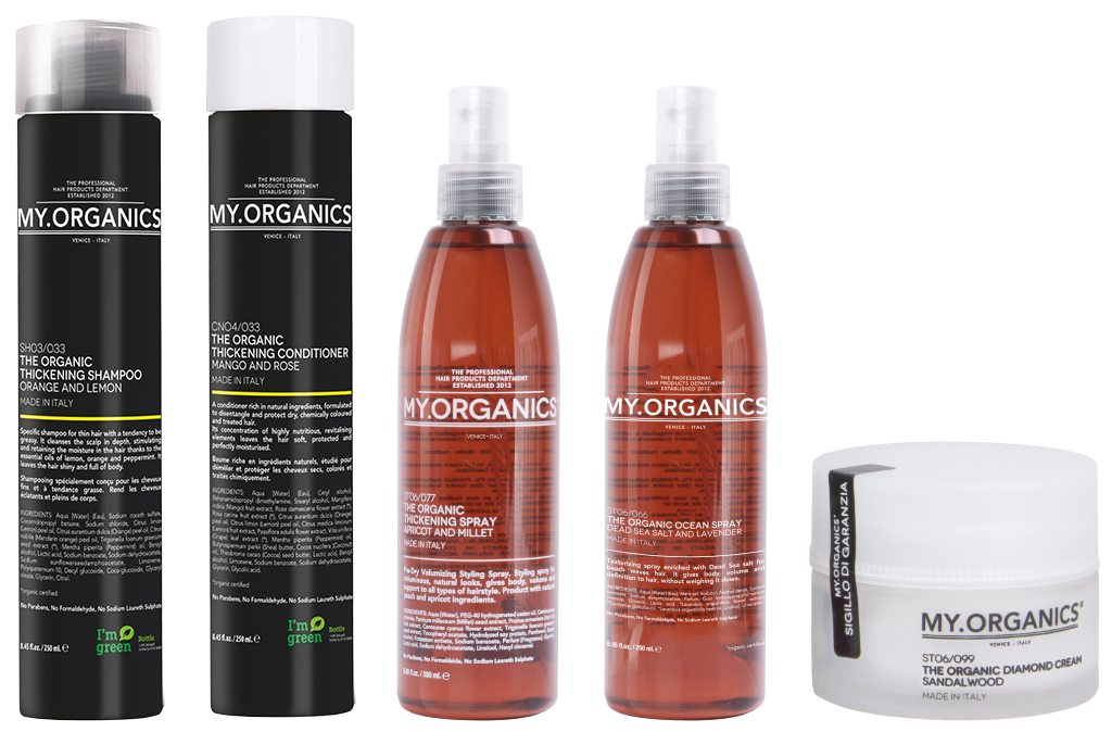 Thickening Line: products for scalp and hair - My.Organics